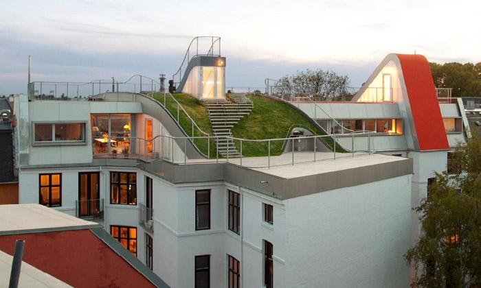 Půdní byty odJDS vKodani nabízí zahradu ahřiště