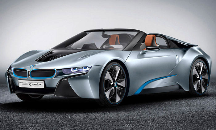 BMW i8 Spyder jefuturistický sporťák bez střechy