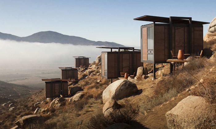 Mexické ekologické bungalovy mají moderní interiér