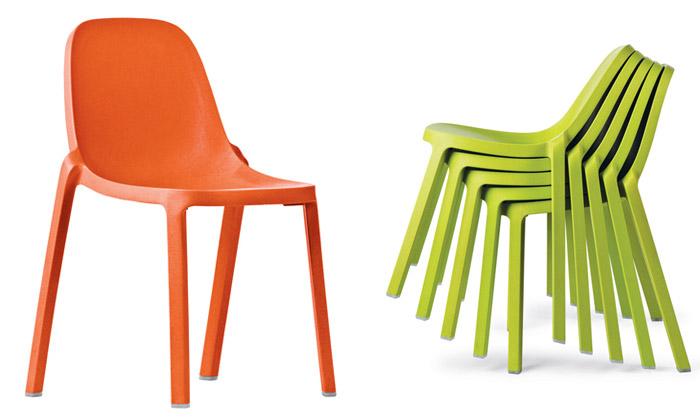 Starck navrhl pro Emeco eko židli Broom zodpadu