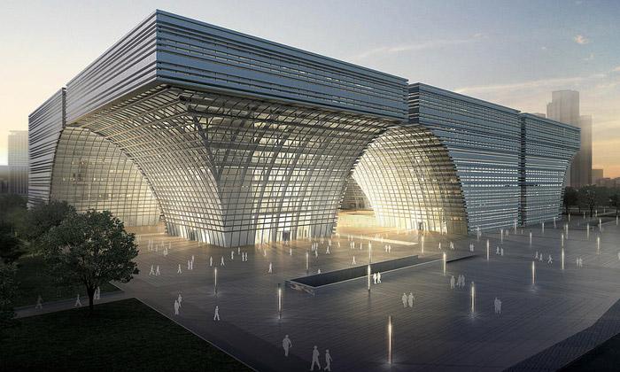 GMP postaví uŠanghaje nakousané kulturní centrum