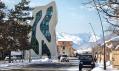 J. Mayer H. a jejich policejní stanice v horském městě Mestia