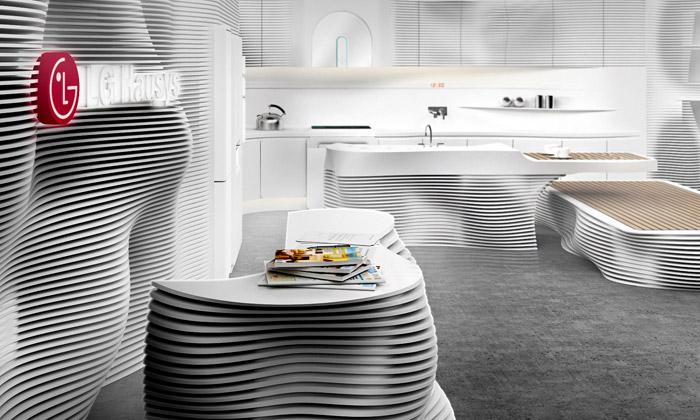 LG ukázalo kuchyni budoucnosti vprojektu Hausys