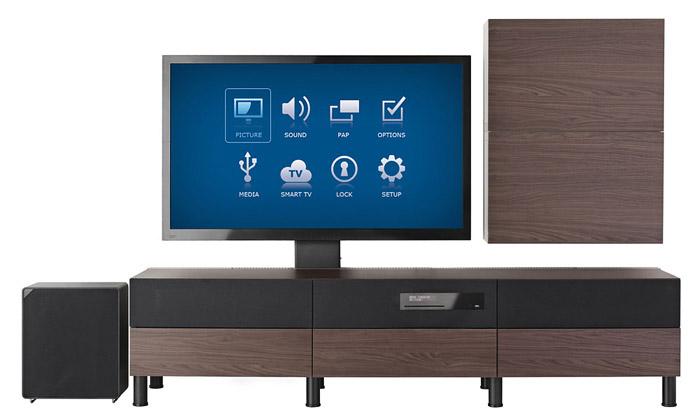 Ikea uvádí vlastní televizi integrovanou vnábytku