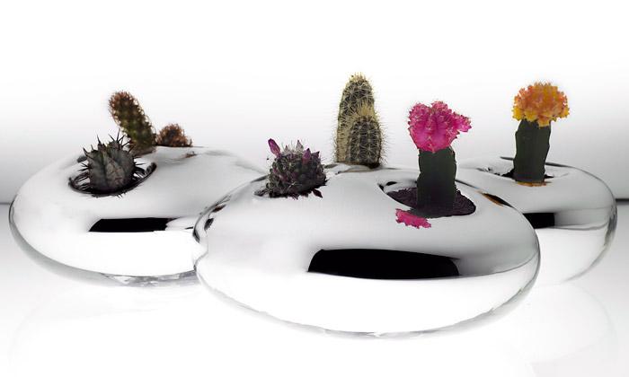 Arik Levy navrhl pro Verreum svícny akvětináče