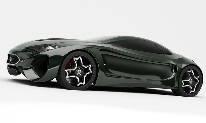 Jaguar XKX jenový koncept elektrického roadsteru
