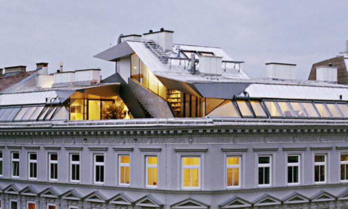 Ve Vídni stojí extravagantní přesto nenápadný loft