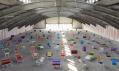 Charitativní projekt italské značky Marni vystavený na veletrhu v Miláně 2012