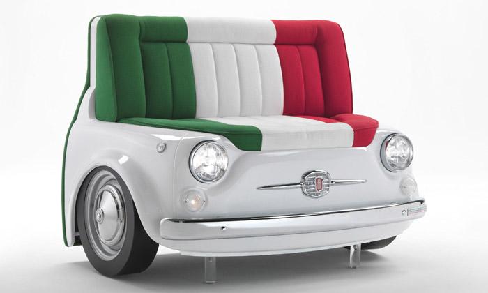 Meritalia uvádí kolekci nábytku vestylu Fiat 500