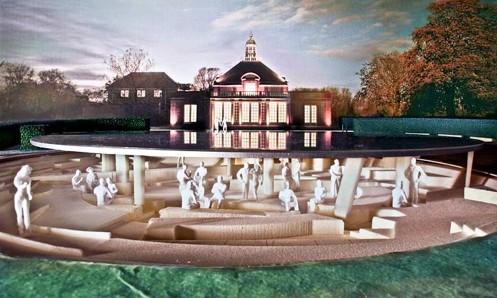 Dočasný pavilon Serpentine Gallery na rok 2012 od Herzog & de Meuron