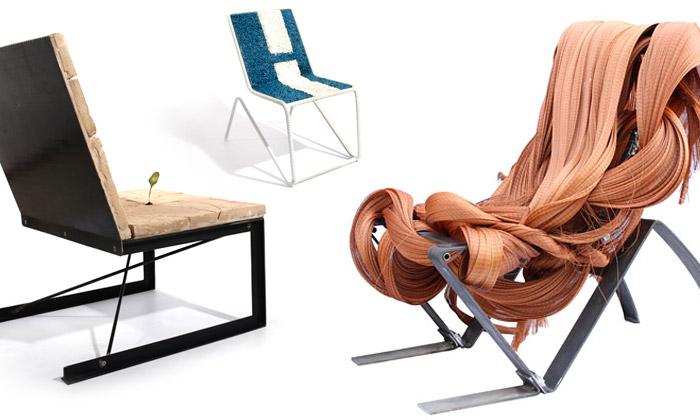 Luca Gnizio vytváří extrémní židle zpapíru ihlíny
