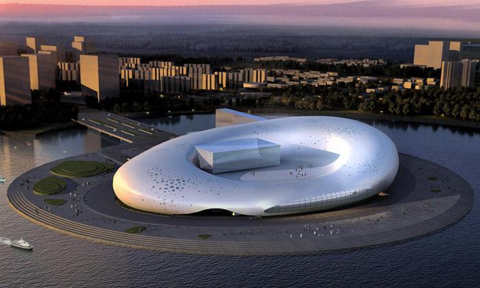 Čína staví kongresové centrum jako mořského ježka