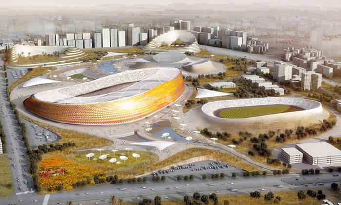 LAVA postaví vEtiopii futuristický stadion svesnicí