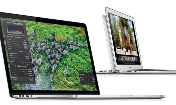 Nový Apple MacBook Pro s retina displejem a vylepšené MacBook Air