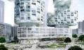 Dvojice jihokorejských mrakodrapů Velo Towers od Asymptote ve čtvrti Yongsan