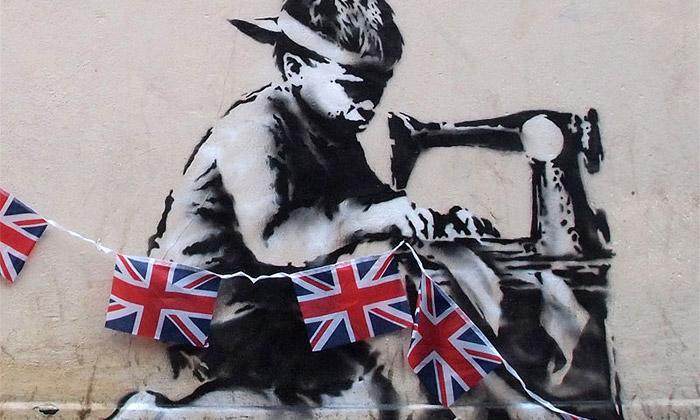 Banksy oslavil výročí královny stylovým streetartem