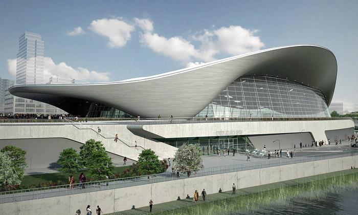 Olympijský plavecký bazén London Aquatics Centre od Zaha Hadid Architects