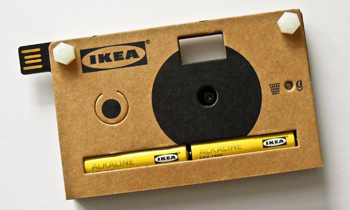 Ikea vyrobila digitální fotoaparát Knäppa zpapíru