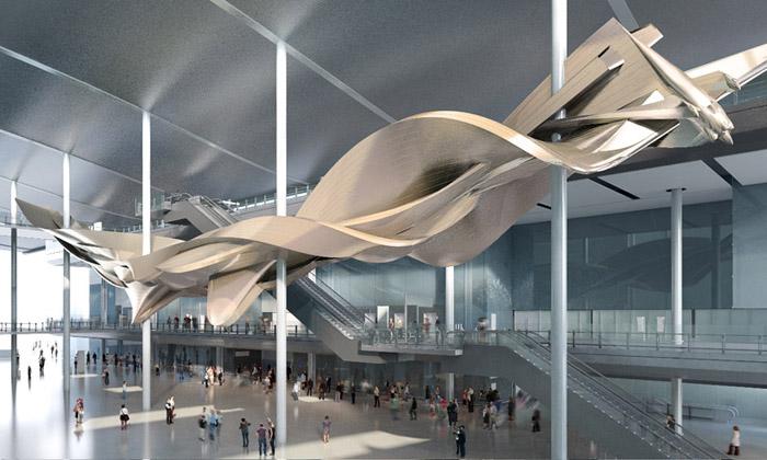 Terminál 2 naletišti Heathrow bude mít obří sochu