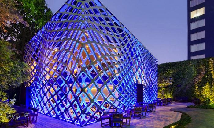 Japonská restaurace Tori Tori v Mexiku od Rojkind Arquitectos