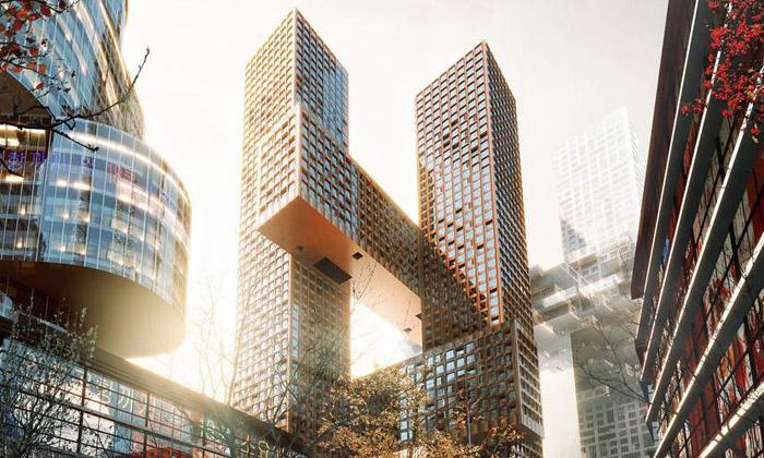 BIG postaví vSoulu dva překřížené mrakodrapy