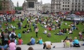 Trávník na Trafalgarském náměstí v Londýně v podání Wow Grass