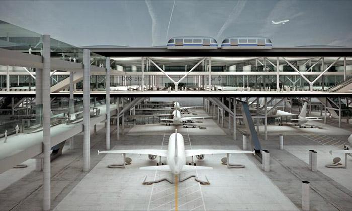 Mehr navrhli unikátní letiště pro projíždějící letadla