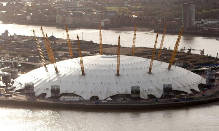 Millennium Dome jeolympijský stadion gymnastiky