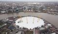 Millennium Dome od Richarda Rogerse olympijsky nazývaný North Greenwich Arena