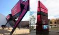 Navigační brány v olympijském parku v Londýně