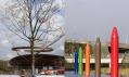 Přepásání stromů a pastelky v olympijském parku