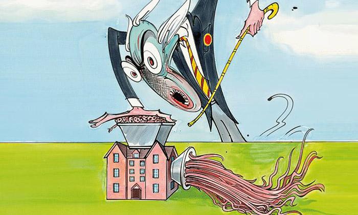 Gerald Scarfe vystavuje své karikatury vKrumlově