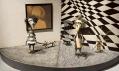 Pohled do výstavy Tima Burtona v Cinémathèque v Paříži