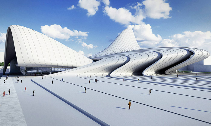 Kulturní centrum Heydar Aliyev v Baku od Zahy Hadid