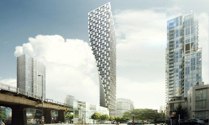 Vancouver postaví obytný esovitý mrakodrap odBIG