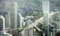 Mrakodrap v projektu VAN u mostu Granville Bridge od BIG