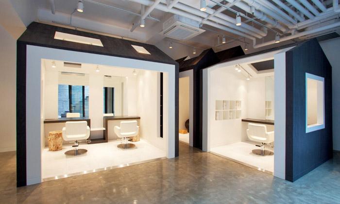 Jihokorejské kadeřnictví Miega má interiér zdomků