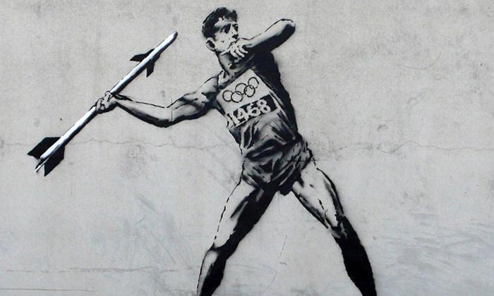Na letní olympiádu reaguje Banksy idalší umělci