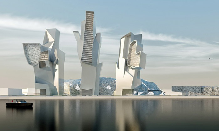 Hollein navrhl kosmickou multifunkční čtvrť vČíně