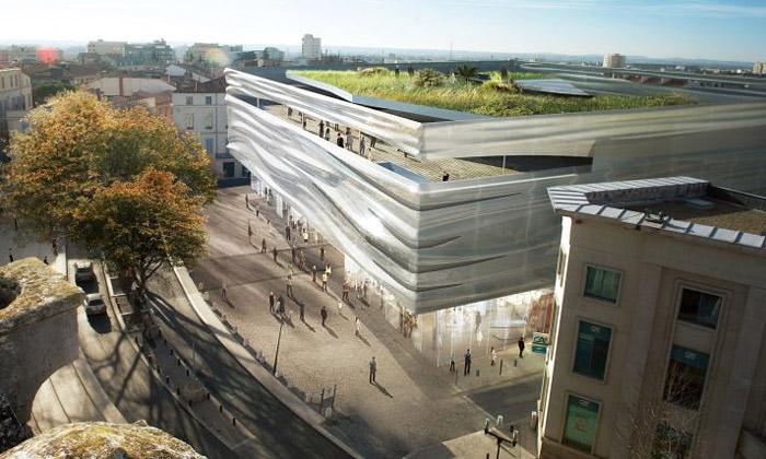 Nimes staví zvlněné aprůhledné Románské muzeum