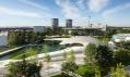 Pavilon automobilky Porsche v parku Autostadt ve Wolfsburgu