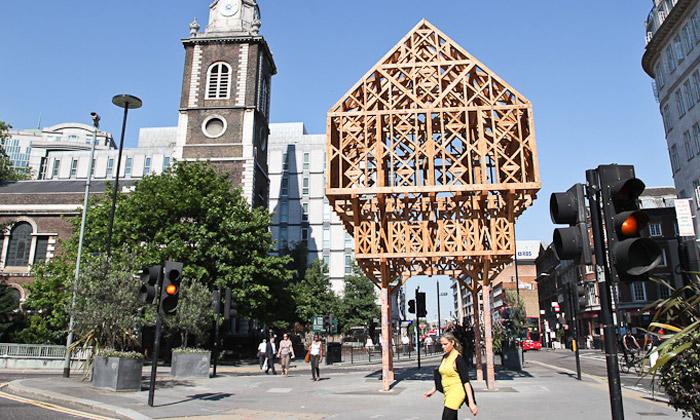 Studio Weave postavilo vLondýně dřevěný palác