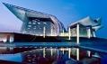 Wuxi Grand Theatre včínském městě Wuxi vprovincii Ťiang-su odPES-Architects