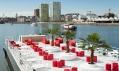 Koupaliště s restaurací Badboot v belgických Antverpách