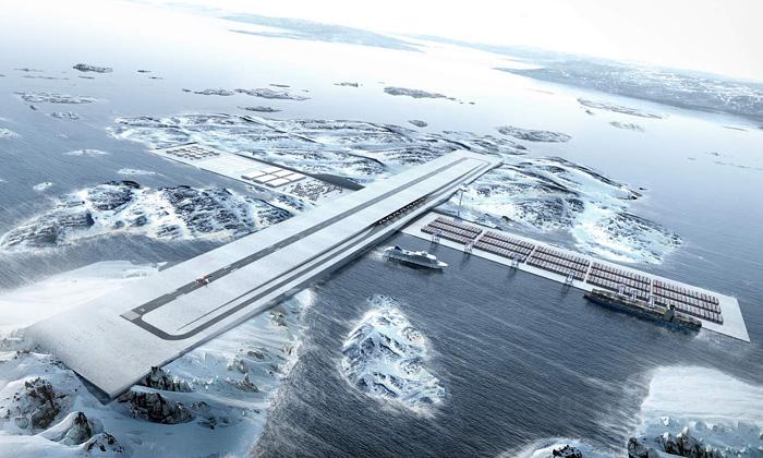 BIG navrhli pro Grónsko přístav křížený letištěm