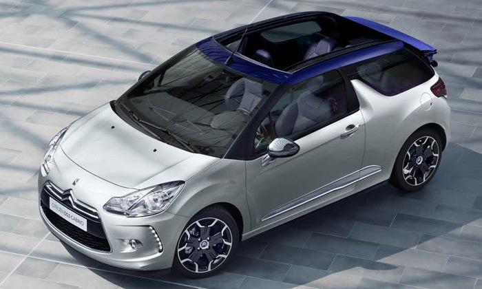 Citroën DS3 Cabrio má skládací plátěnou střechu
