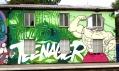 Ukázka graffiti od umělců z projektu Nuselák aka Graffiti Bridge