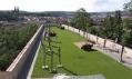 Výstava soch Olbrama Zoubka v zahradách Bastionu u Božích muk na Praze 2