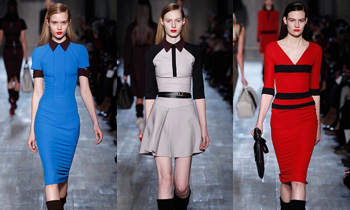 Victoria Beckham má strohou podzimní kolekci šatů