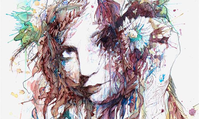 Carne Griffiths maluje portréty jen čajem avodkou